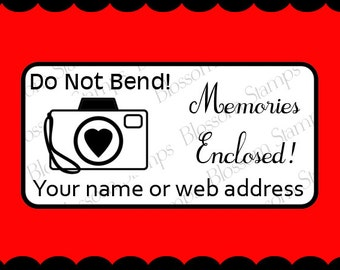 Photography Do Not Bend rubber stamp / Custom Rubber Stamp / Etsy Shop Supply - Personalized - Handmade by Blossom Stamps