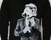 Storm trooper Smarttrooper - Mens / Unisex Zip-Up hoodie ( Star Wars / Storm Trooper hoodie)