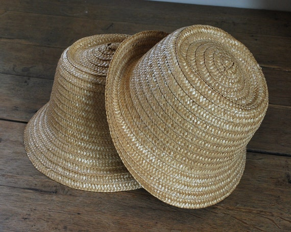 Reserved for Perhaps Turquoise: Vintage French Straw Hats and Braided Straw