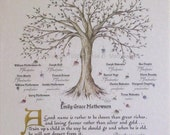 FAMILY TREE, PERSONALIZED  Pkg. of 3
