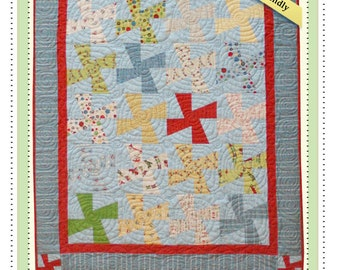 PDF Pattern Quilt Playful Propellers fun and easy to make