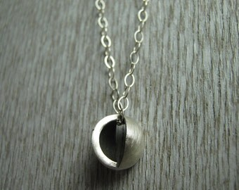 Modern Sterling Silver Ball Necklace