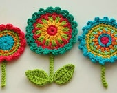 Crochet Flower Motifs  -  Crochet Garden Series
