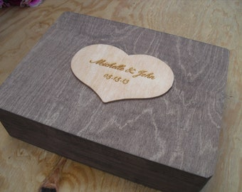 Wedding Guest Book Alternative Rustic Wood Personalized Engraved Set for 125 guests - Item 1441