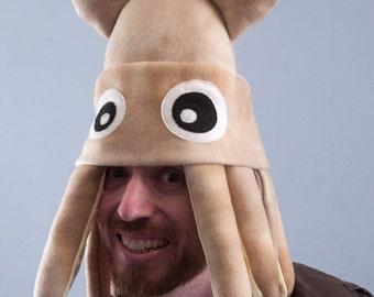 Squid Hat Plush Medium - Tan Tie-Dye