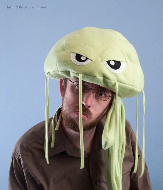 Fleece Jellyfish Hat - Light Green