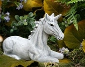 Unicorn Statue - Fairy Garden Decor - Concrete Art