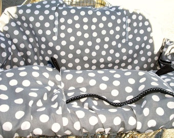 Shopping Cart cover  for boy or girl.... Gray Dots Shopping Cart Cover