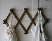 wooden peg rack