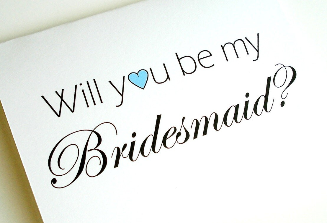 will you be my bridesmaid card by lilcubby on etsy. Black Bedroom Furniture Sets. Home Design Ideas