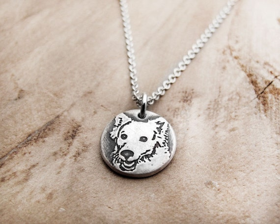 American Eskimo dog necklace, silver American Eskimo dog jewelry