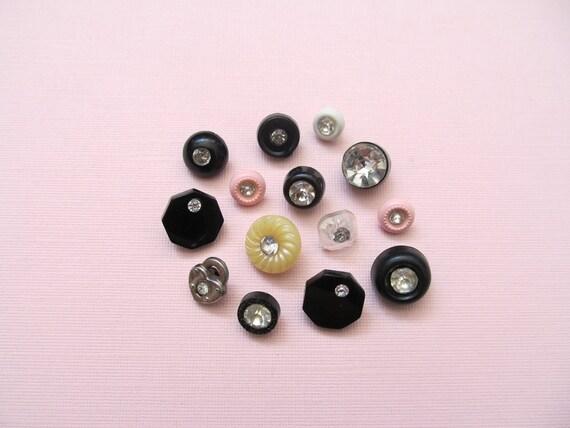 Glam Vintage Rhinestone Buttons