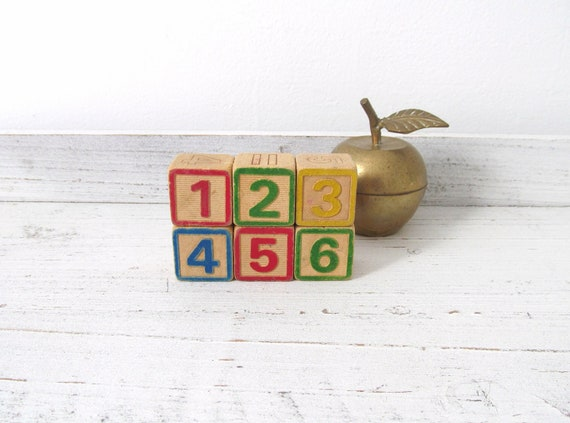 Vintage Number Blocks