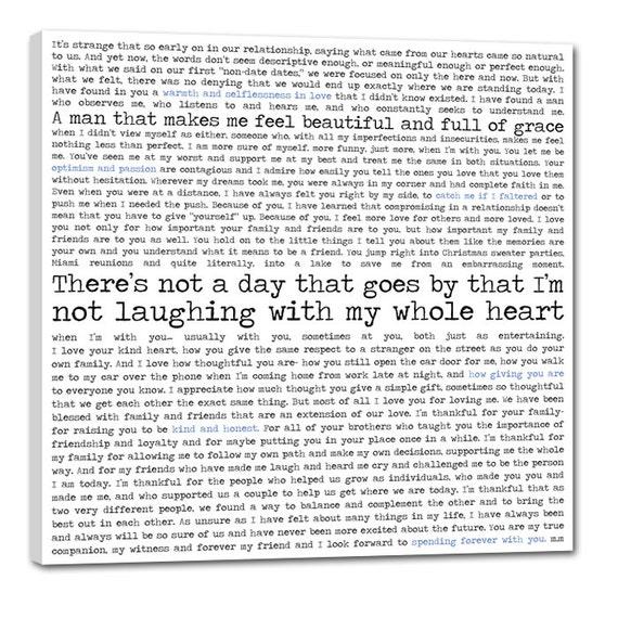 Items Similar To Song Lyrics Canvas Print Artwork Wedding