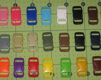 100 ct 3/8 inch curved side release buckles U PICK COLORs