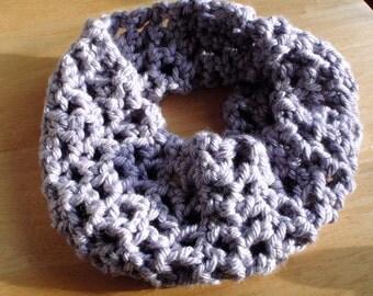 Crochet Loop Cowl in Pale Purple