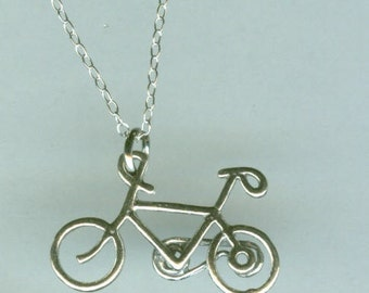 Sterling BICYCLE Charm