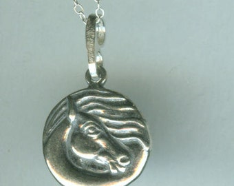 Sterling WIND HORSE Pendant AND Chain - Necklace