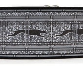 Jane Walkers Paisley Black and Gray Martingale-