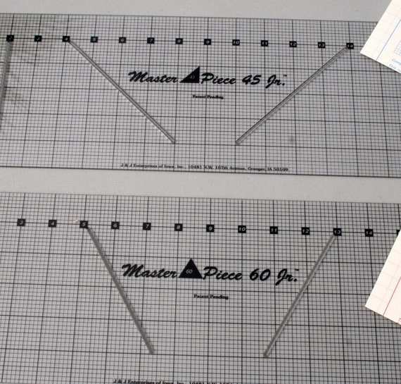 """MASTER PIECE 45 & 60 Degree Rulers / Rotary Cutting Guides 18"""" Length"""