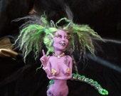 OOAK Fantasy Monster Fairy Fae Goth Art Doll Sculpture Centepede Girl by Marie Mifflin