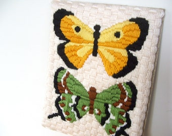Vintage Butterfly Yarn Craft Wall Decor