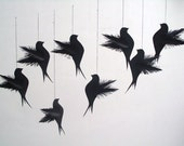 15 black elegant wish dove tags escort cards banner Halloween