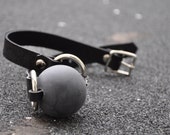 Black Rubber Ball Gag- Mature