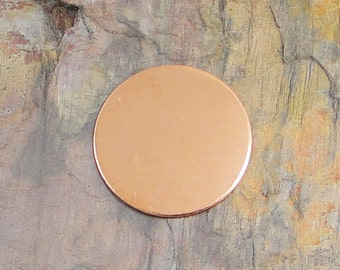 """10 Deburred 18 Gauge Copper 1 1/4"""" 1.25 inch Stamping Blanks Discs"""