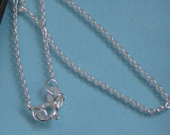 ADD ON:  Sterling silver basic cable chain - 16,18,20 or 24 inch length