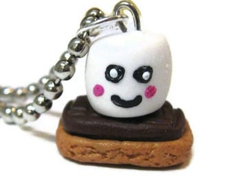 SALE Happy Smores Necklace, Ready To Ship