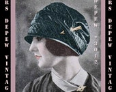 Vintage Sewing Pattern Ladies' 1920's Flexible Beret Hat Depew 3012 -INSTANT DOWNLOAD-