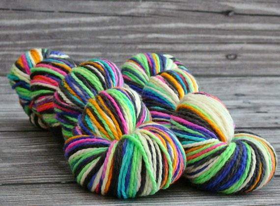 Hand Painted Aran Superwash Merino Yarn - Spooky - Ready to Ship