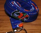 Florida Gators Breakaway LANYARD School ID Key Holder