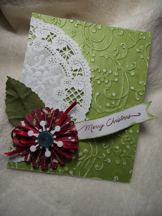 Christmas card very elegant merry christmas by for Elegant homemade christmas cards