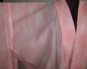 Ombre Candy Striped Pink Silk Kimono