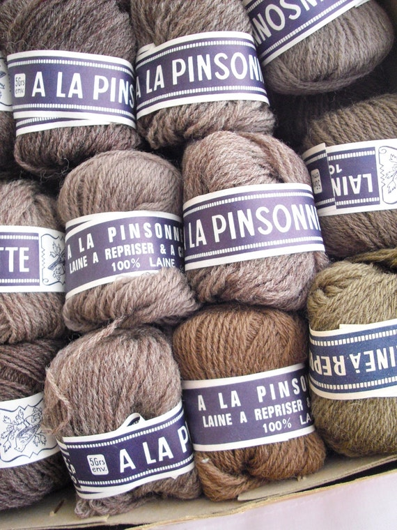 French Vintage 100 per cent Wool Yarn,Embroidery,Knitting,Crochet Old Stock Haberdashery
