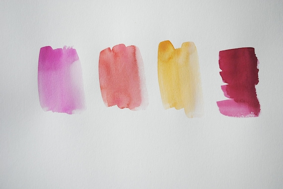graphic watercolor in pinks