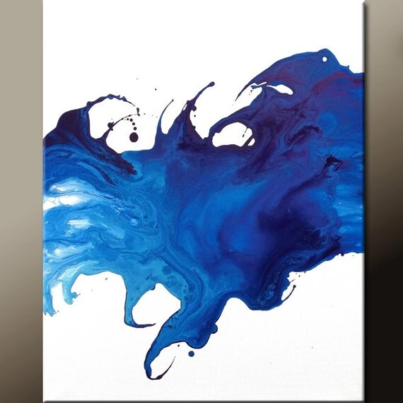 Abstract Art Painting 16x20 Contemporary Modern Art Original Wall Art  by Destiny Womack - dWo - Overflowing Emotion