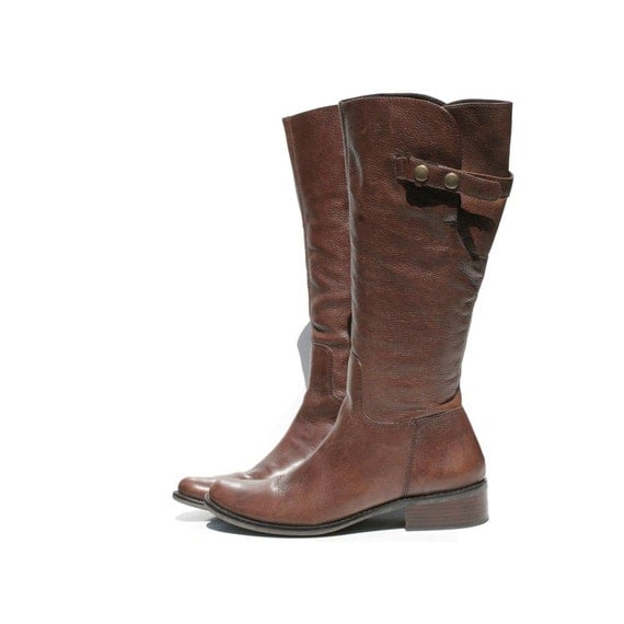 Brown Leather Riding Boots size: 10