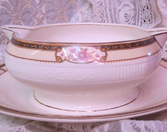 Vintage W.H. Grindley Georgian Ivorie - Iborie Gravy Boat - Shabby Chic, Romantic, Cottage Style Mix Matched Dishes