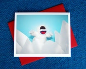 AC is the Abominable Snowman Greeting Card