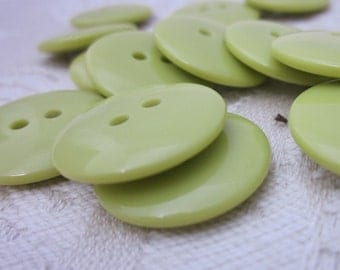 Plain Gloss Olive Green Buttons 20mm 24 pieces