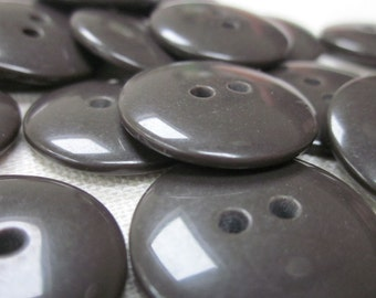 Plain Gloss Dark Brown Buttons 20mm 24 pieces