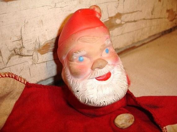 Vintage Santa Claus Hand Puppet