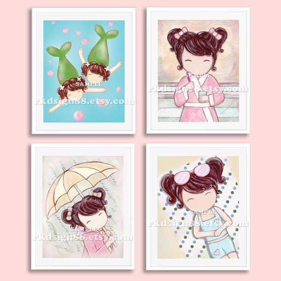 Items Similar To Rainy Day Girl Room Decor, Baby Girl