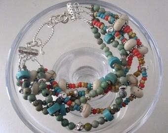 Santa Fe Multi Strand Bracelet