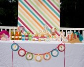 Popsicle Mini Party Banner Word Birthday Banner Summer Party Popsicle Party by Belleza e Luce