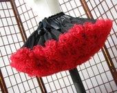 Pettiskirt Black and Red Size Medium Custom