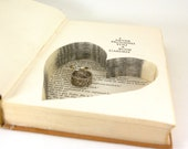 Wedding - Vintage Hollow Book Safe with Heart - I Never Promised You a Rose Garden - christmasinjuly